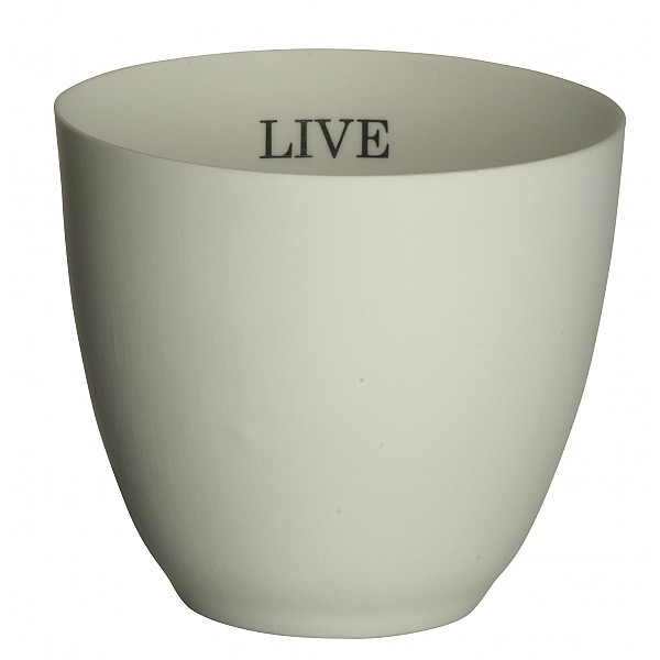 Votive / Candle Hodler LIVE LOVE LAUGH