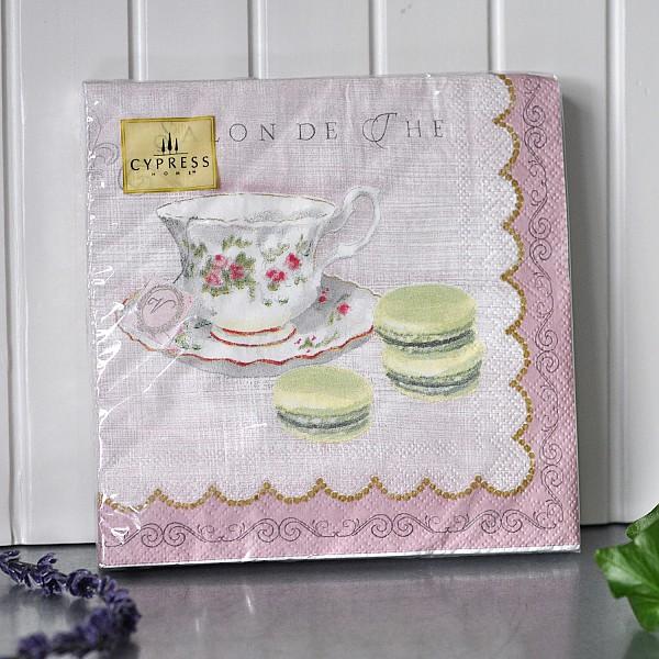 Napkins Tea cup & Macarons