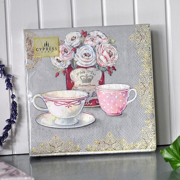 Napkins Tea cups