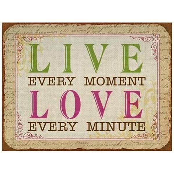 Tin Sign Live Love