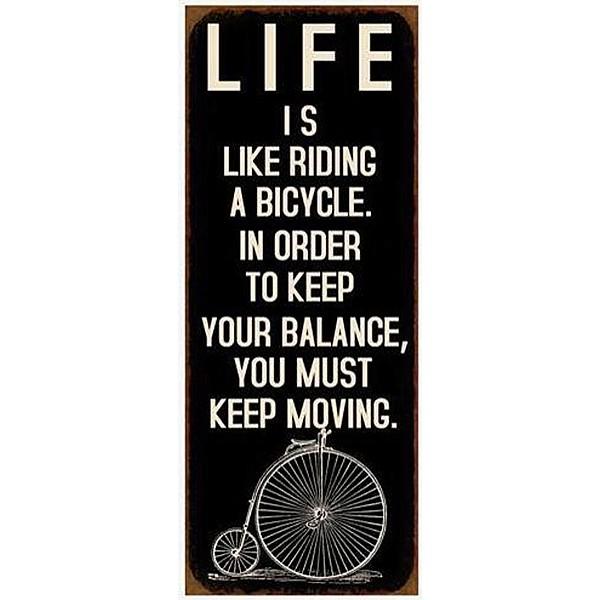 Tin Sign Bicycle