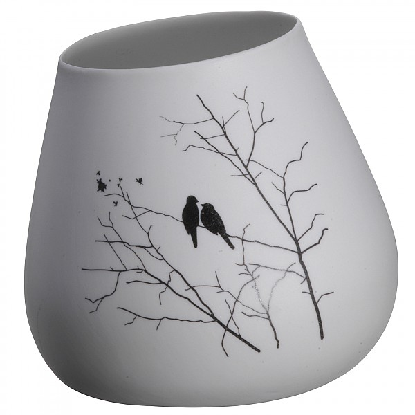 Leaning Vase Birds - Height 9.5 cm