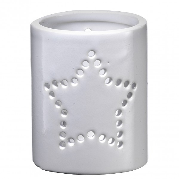 Ceramic Candle Holder / Votive Star