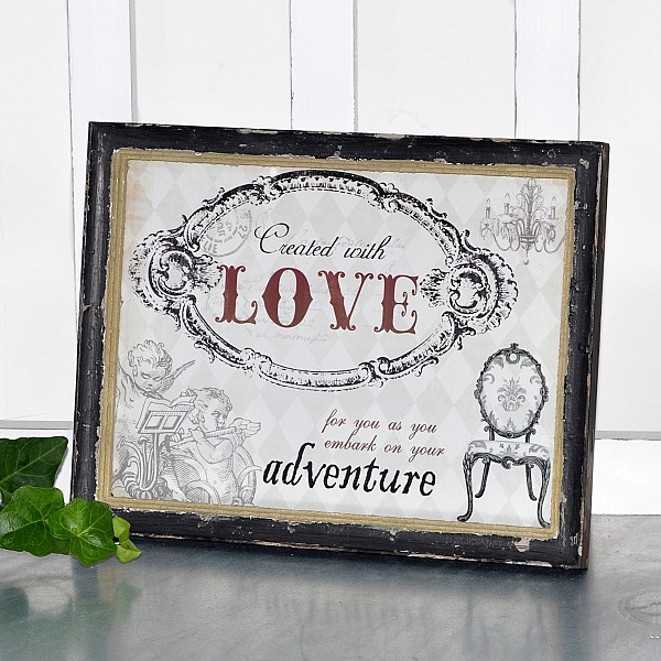 Framed Picture Created with Love