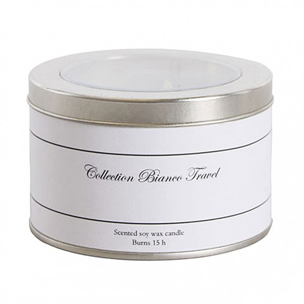 Scented Candle Fresh Lavender - Collection Bianco Travel
