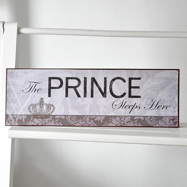Tin Sign The Prince sleeps here