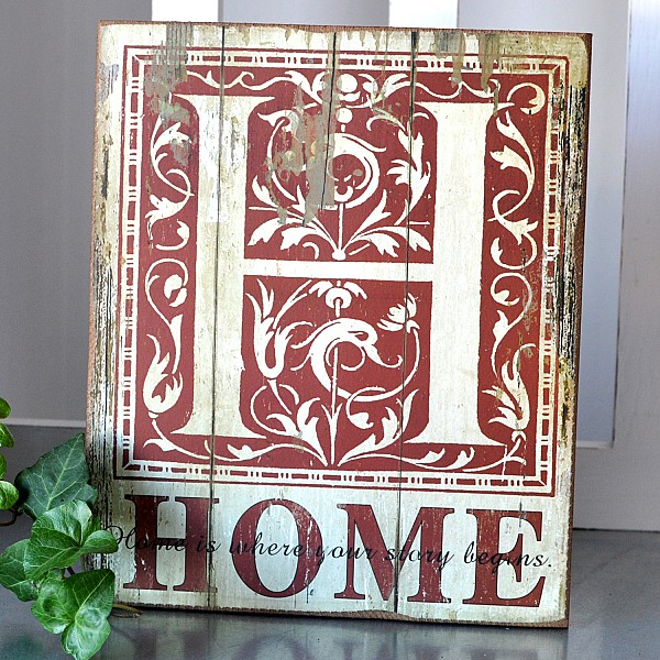 Wooden Sign - Home is where our story begins