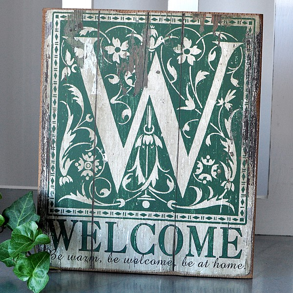 Wooden Sign - Welcome Be warm, be welcome, be at home