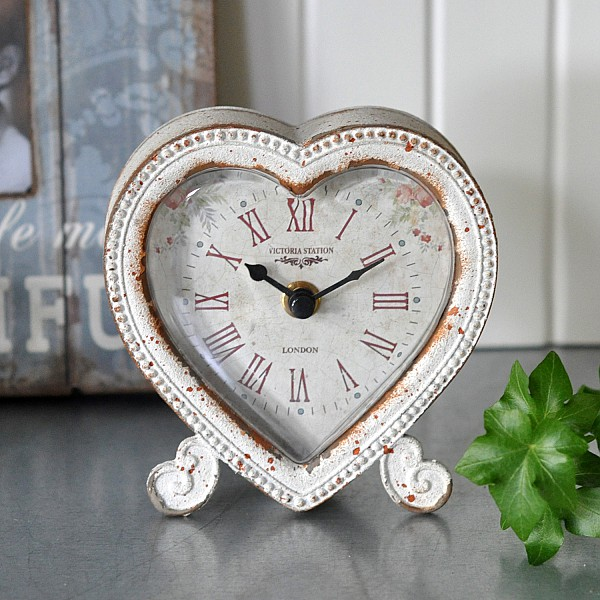 Table Clock Heart / Heart Shaped Clock