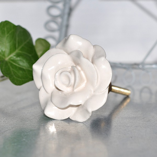 Porcelain Knob Rose - Cream