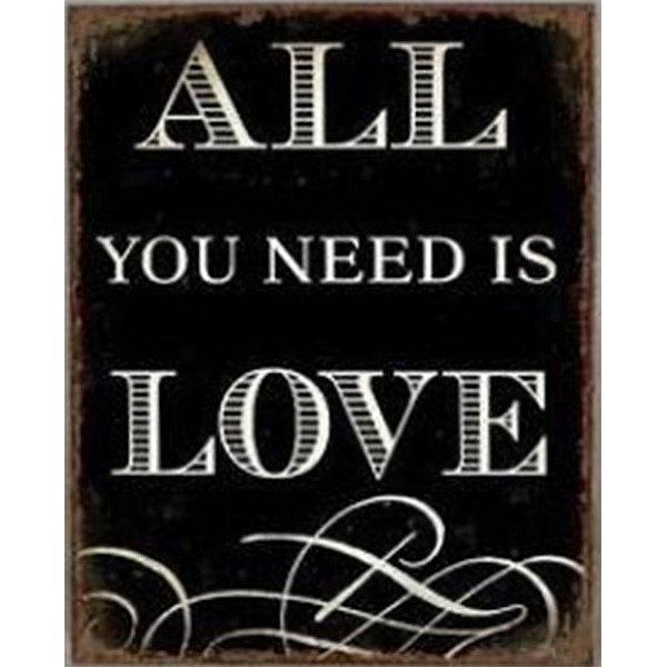 Tin Sign All you need is love