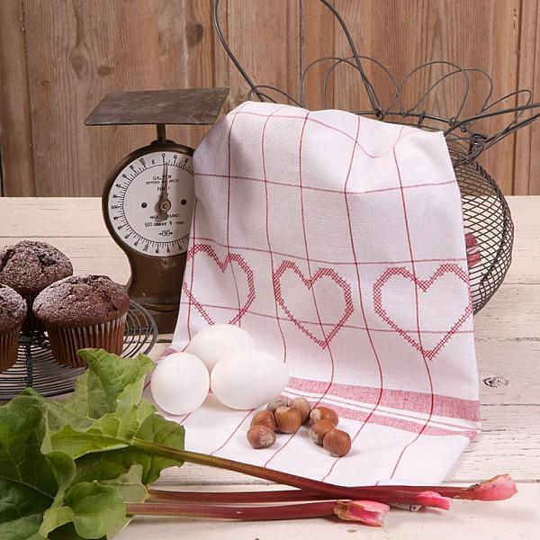 Tea Towel 3 Hearts