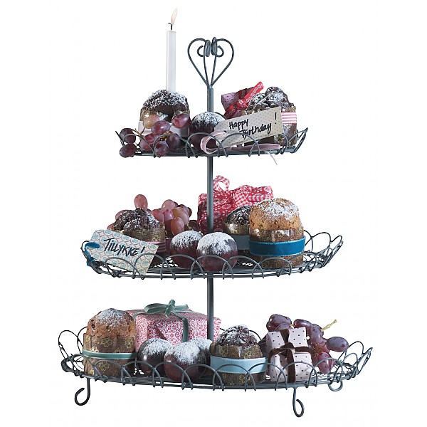 3 tier Cake Stand - Grey