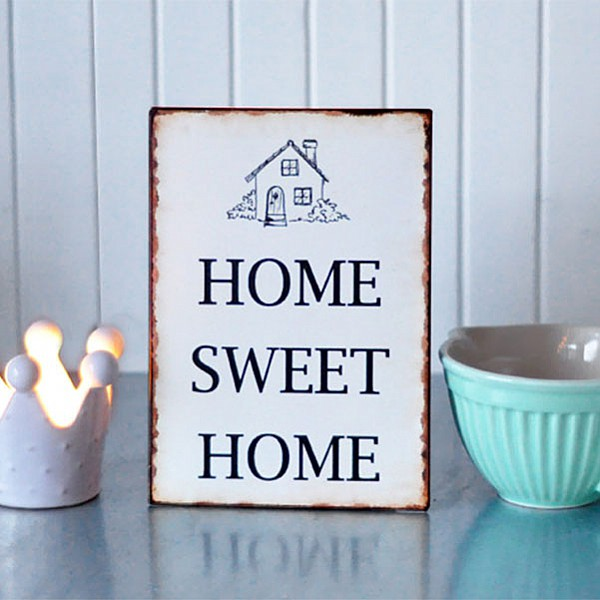 Tin Sign Home Sweet Home