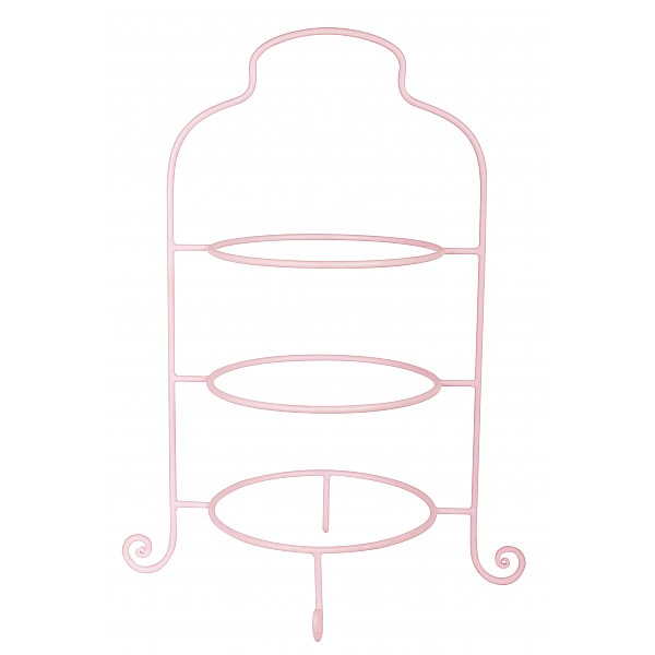 Plate Stand - English Rose - Pink
