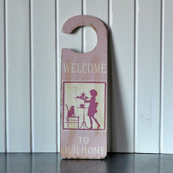 Door Sign - Welcome to our home