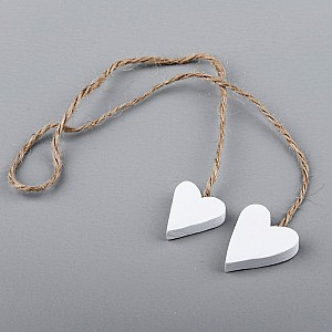 Wooden Hearts on a string