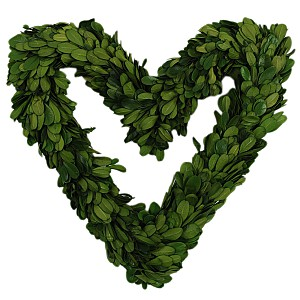 Heart Wreath Boxwood - 25 cm