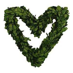 Heart Wreath Boxwood - 19 cm