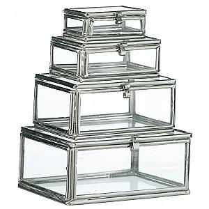 Små glaslådor 4 st