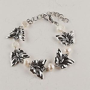 Armband Fjärilar & pärlor