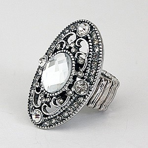 Ring Silver kristall & strass