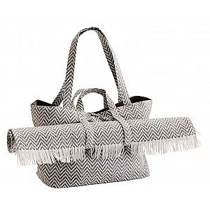 Strandväska med matta