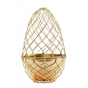 Wire Egg with pot