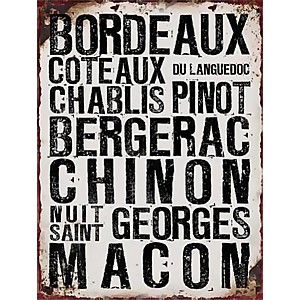 Tin Sign Bordeaux