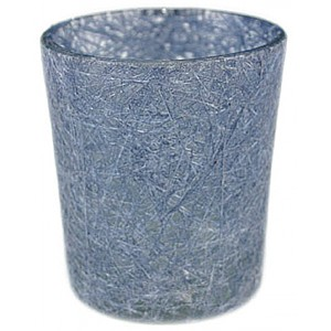 Glass Fibre Tealight Holder Jeans Blue