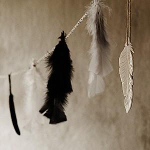 Liten hängande fjäder