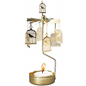 Rotary Candle Holder Birdcage