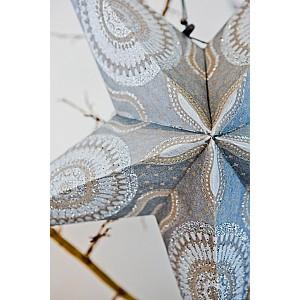 Julstjärna Silver med glitter