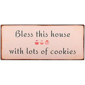 Plåtskylt Bless this house
