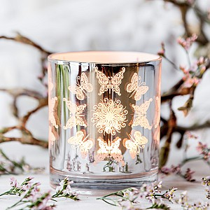 Candle Holder Butterfly with flower
