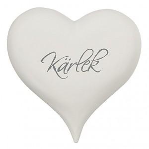 Hjärta med text Kärlek