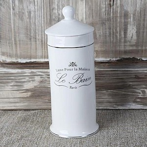 Jar for makeup remover cotton wads / pads