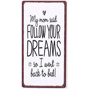 Magnet My mom said follow your dreams