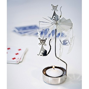 Rotary Candle Holder Cat