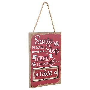 Stoppskylt Santa
