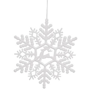 Hanging Snowflake with reindeer
