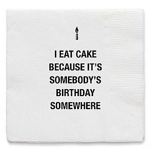 Napkins I Eat Cake