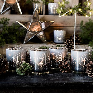 Majas Candle Holders Advent - Grey