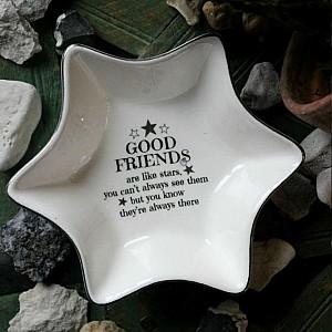 Majas Starshaped Plate Good Friends