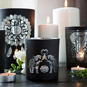 Majas Candle Holder Elephant Family Love