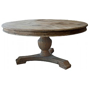 Dining Table Round Wooden Rough