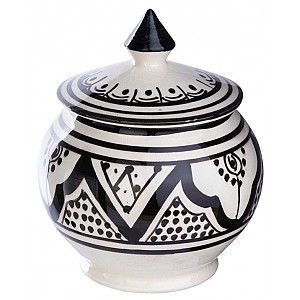 Moroccan Sugar Bowl Safi Rounded