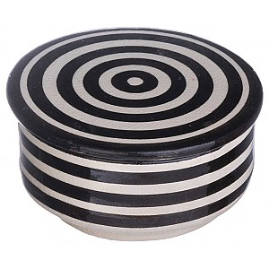 Moroccan Flat Bowl Striped Small