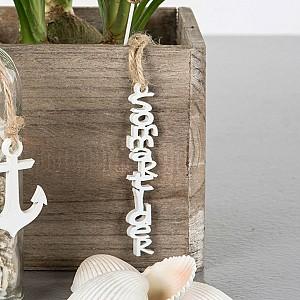 Hanging Wooden Text Sommartider