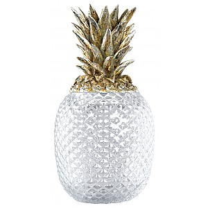 Pineapple in glass with Champagne lid - Large